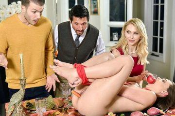 Alix Lynx, Aften Opal – Family Friendly Thanksgiving Fuck Fest [Openload Streaming]