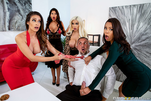 Bridgette B, Katana Kombat, Luna Star, Victoria June – Office 4-Play: Latina Edition [Openload Streaming]