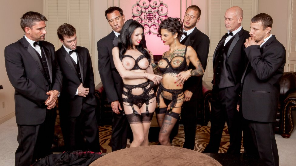 Bonnie Rotten, Veronica Avluv – The Secret Soiree: Six-Man Gangbang [Openload Streaming]