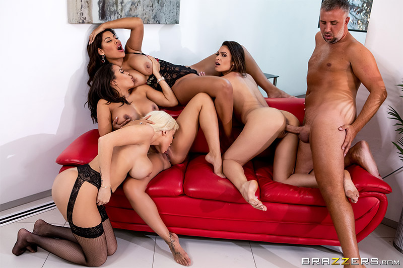 Office 4-Play: Latina Edition Bridgette B, Katana Kombat, Luna Star, Victoria June & Keiran Lee [XXX FREE]